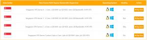 Singapore VPS Server Plans onlive server